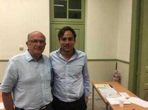 Ο κ. Μοχιανάκης με τον Βαγγέλη Ντηνιακό